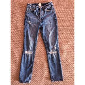 H&M High Rise Vintage slim straight jean